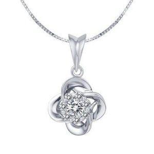 2.10 Carats brilliant cut diamonds Pendant necklac